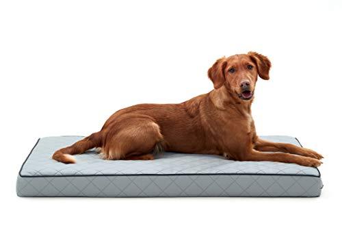 Woofery - Hundebett Hundematte Stitch - orthopädisch rutschfest M - L 110 x 66 Silber