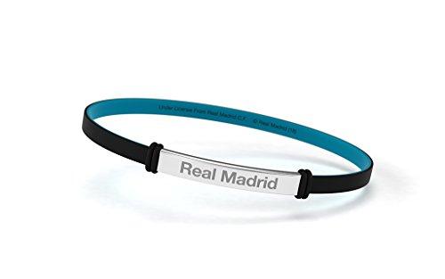 Real Madrid Pulsera Club de Fútbol Fashion Negra Junior para Mujer y Niño