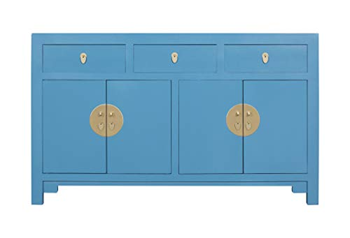 Fine Asianliving Aparador Chino Azul Cielo - Orientique Colección A140xP35xA85cm