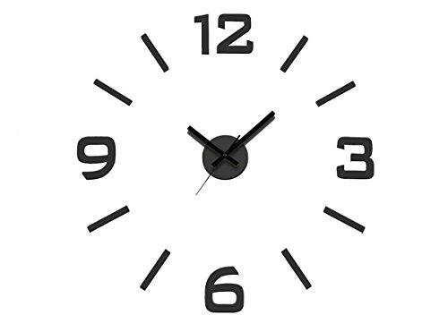 Dcasa Reloj Pared Adhesivo Negro de Medidas: 60x3x60 cm. Material: Plastico/Espuma, Color