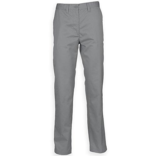 Henbury Pantalon Chino - Homme (102cm x Long) (Gris Acier)