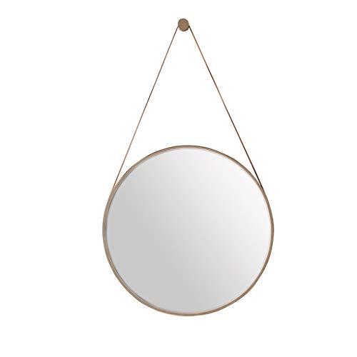 Miroirs de vanité de Salle de Bains en métal montés sur Fer Rond Maquillage cosmétique Tenture Murale Miroir de Courroie pour Salon, Chambre à Coucher, 40-80 cm Disponible