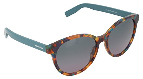 BOSS Orange BO 0195/S QC 7KQ Occhiali da Sole, Verde (Hvgrnspt Pstr/Green Violet DS), 55 Donna