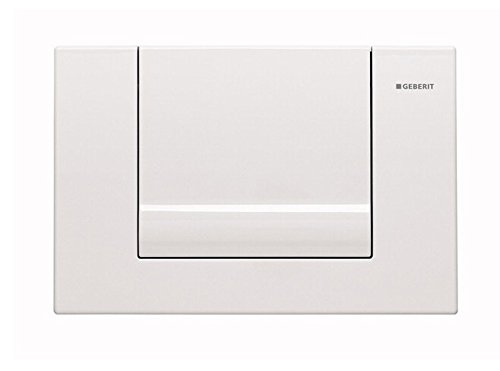 Geberit 115.760.11.1 Single-Flush Actuator Plates from the Tango Series, Alpine White by Geberit