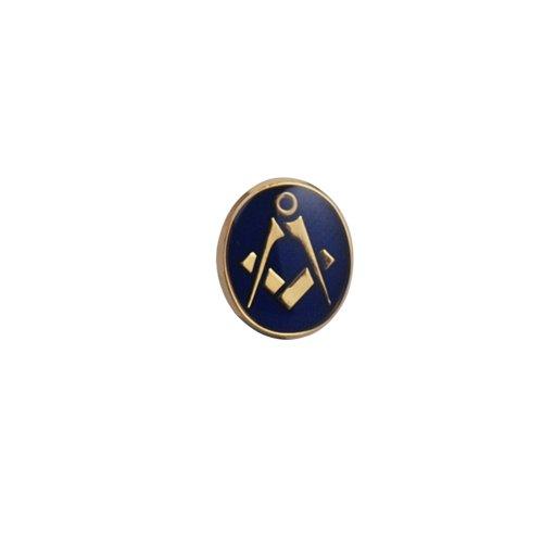 Dur plaqué or 12x10mm ovale émail polymérisation à froid maçonnique épingle à cravate