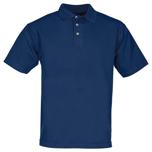 James & Nicholson, maglietta polo da uomo in tessuto piqué, taglia M blu navy XL