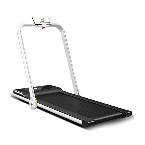 XTZJ Tapis roulant pieghevole per uso domestico, sotto la macchina da jogging da jogging elettrico footicale da tavolo per piccoli spazi, 2 in 1 tapis roulant compatto allenamento con telecomando (1-6