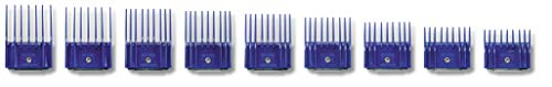 Andis Plastic Blade Comb Sets, 9 Pieces, Small 6