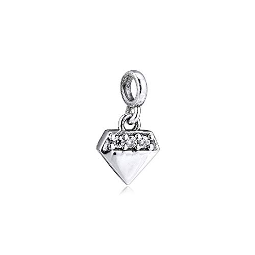 LILANG Pulsera de joyería Pandora 925, dijes de Diamantes Brillantes Naturales, Cuentas de Plata esterlina Originales Me, fabricación de Regalos para Mujeres, Bricolaje