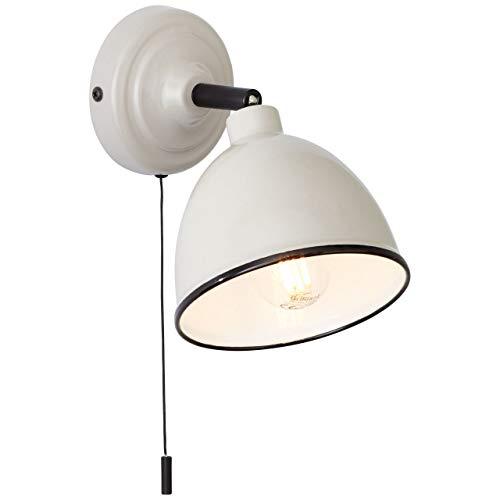 BRILLIANT lámpara Telio interruptor de luz de pared gris/marrón |1x D45, E14, 28W, adecuado para lámparas de caída (no incluidas) |Escala A ++ a E |Con interruptor de tiro