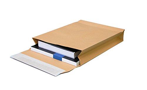 Faltentaschen DIN B4 250x353x40 mm braun 130g/m² ohne Fenster (391157) (50)