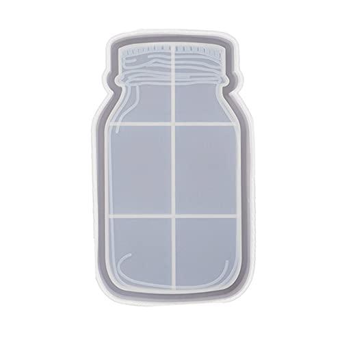 LOKOER Molde de resina de cristal de silicona, pintura transparente,...
