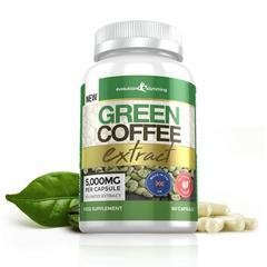 Green Coffee Bean Extract 5,000mg, 60 Capsules, Evolution Slimming