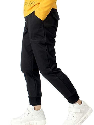Kinder Jungen Jogginghose Outdoor Pants Freizeithosen Sweathosen Sporthose (Schwarz, 110-115)