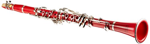 Merano WD401RD B Flat Red/Silver Clarinet with Carrying Case, Mouth Piece, Screwdriver, Reed and Cap