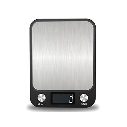 OKIJU Báscula Digital 5-10kg / 1g LCD Mostrar multifunción Digital Alimentos de Cocina Escala de Acero Inoxidable Escala de pesaje Herramientas de cocción Balance Báscula de Cocina (Color : 10