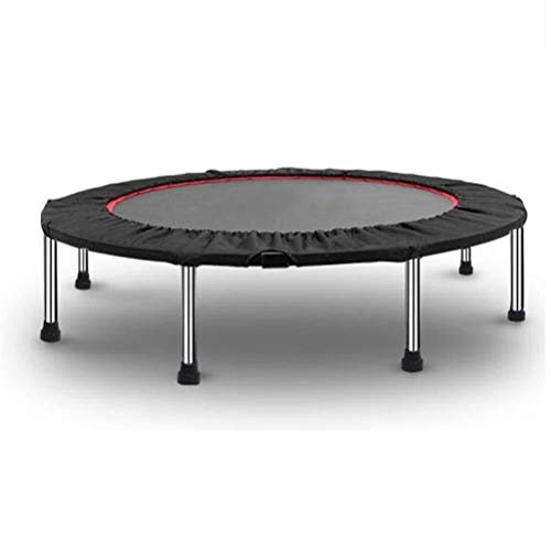 Indoor Fitness Trampoline Folding Gym Fold Trampoline, Center of Gravity Stable Not Easy Roll over Round Bouncer,suitable for Whole Family Jump Toy Rebounder Load: 250kg Exercise Trampoline Rebounder