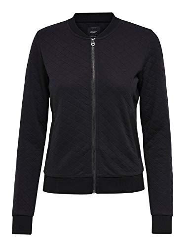 ONLY Female Sweatshirt Bomber- MBlack