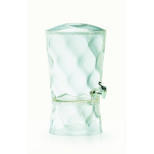 CreativeWare Sculptured Beverage Dispenser, Clear