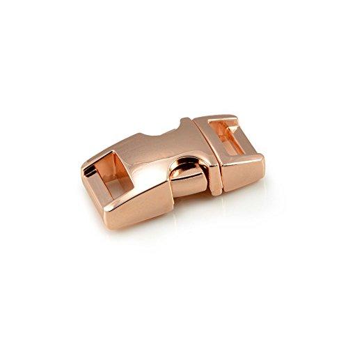 """Fermoir à clip en métal, idéal pour les paracordes (bracelet, collier pour chien, etc), boucle, attache à clipser, grandeur: S, 3/8"""", 33mm x 15mm, couleur: cuivre, de la marque Ganzoo - lot de 3 fermoirs"""