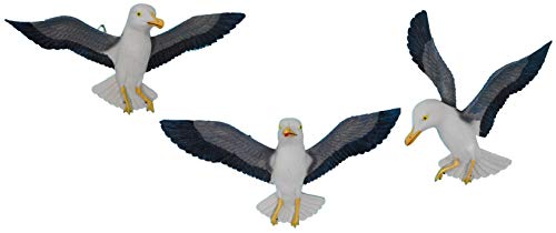 N / A 3er Set Fliegende Möwen bis 16 x 34 cm zur Wandmontage Maritim Vogel Figur Deko Creation 271