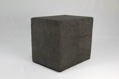 Fränkische Schlafmanufaktur Stufenlagerungswürfel, Bandscheibenwürfel, Lagerungswürfel, mit Microfaserbezug, ca. 50x45x40 Farbe Dunkelgrau