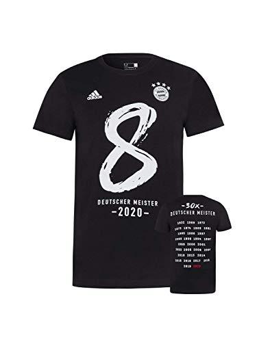 FC Bayern München T-Shirt Deutscher Meister 2020 schwarz, L