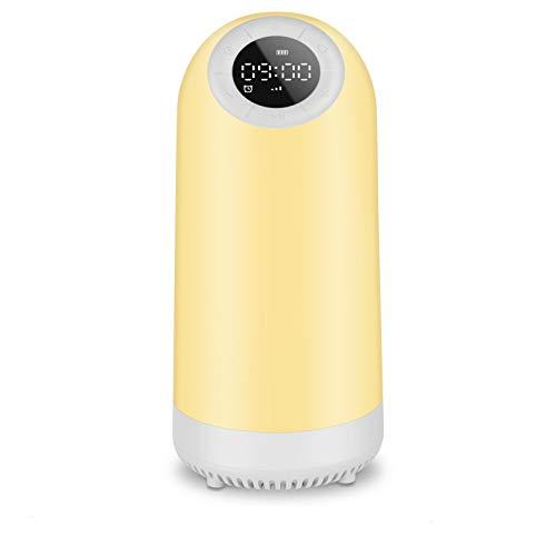 Urslif Bluetooth Nachttischlampe mit Berührungssensor, Wecker, FM-Radio, warmes Licht und Farbwechsel, Geschenk für Kinder (Fortgeschrittene Edition)