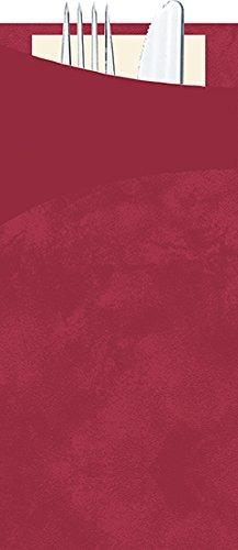 Duni Serviettentasche Bestecktasche mit Besteck Sacchetto Bordeaux 190x85 mm 30er Pck.