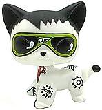 N/N Mini Pet Shop, LPS Toy Hand Painted Custom OOAK LPSs Brown Elvis Cat Kitty Kittey Figures Kid Gift