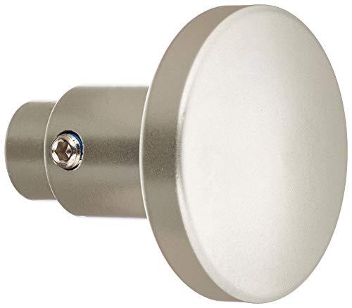 HSI 961947.0 Knopf-Türdrücker Lochteile Aluminium neusilber für 8mm Stift 1 St