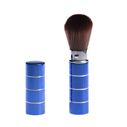 LSWL 1PCS Faire maquillage cosmétiques de Pinceau Brosse télescopique Brosses for le maquillage métal télescopique Brosse naturel (Color : D)