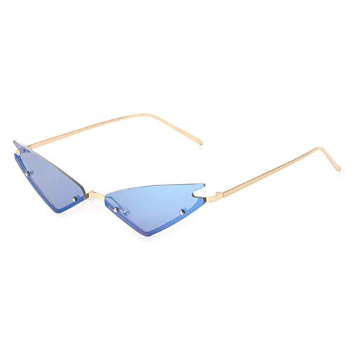 NJJX Gafas De Sol Ojo De Gato Para Mujer Gafas De Sol De Moda Moda Vintage Triángulo Sin Montura 4