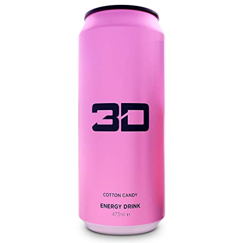 3D Energy Drink 24 Cans (Pink- Cotton Candy)