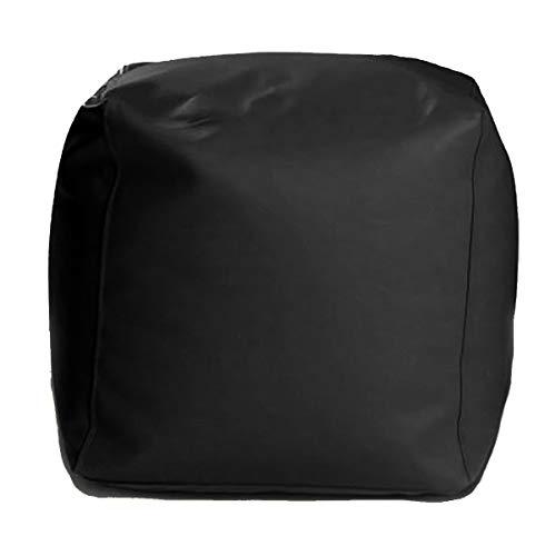 Ecopuf® Cube L Sitzpouf Quadratischer Hocker Kunstleder Sitzhocker voll mit Styroporkugeln - Puff 50x50cm