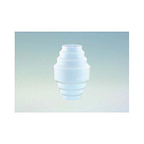 Kondenswassersammler in Weiß von 100 - 150 mm Durchmesser kürzbar für 100er /125er / 150er Abluftsystem senkrechter Einbau für Rundrohr und Schläuche Abluft zum Auffangen von Kondenswasser