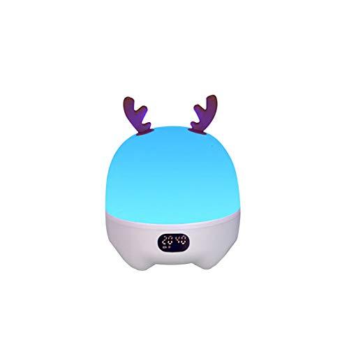 bysonice Altavoz inalámbrico multifuncional Bluetooth patrones coloridos proyección noche lámpara recargable despertador