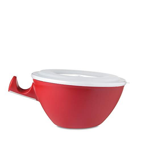 Mepal Loomm ESS Bol en porcelaine et plastique Rouge