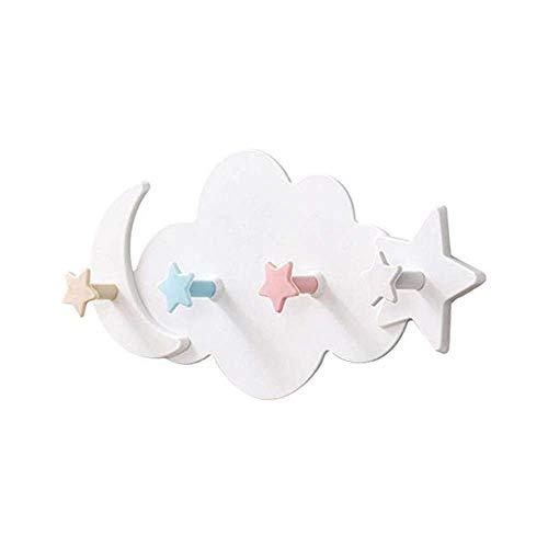NSCHJZ Nubes Ganchos autoadhesivos para Pared y Papel Pintado Estante para habitación de niños Estante de Pared Perchero para niños...