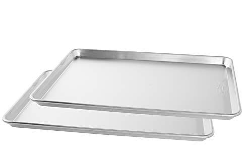Nordic Ware Naturals Big Baking Sheet, 2-Pack, Silver