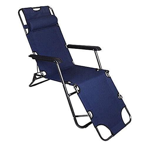 Tumbonas reclinables en el jardín, al aire libre, verano, silla de playa, tumbonas plegables al aire libre, silla de jardín Portab, apta para interiores y exteriores