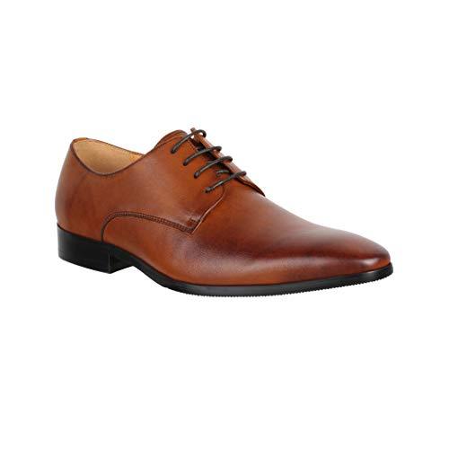 Elara heren lederen schoenen business veterschoenen Chunkyrayan