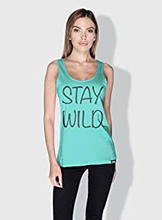 Creo Stay Wild Trendy Tanks Tops For Women - M