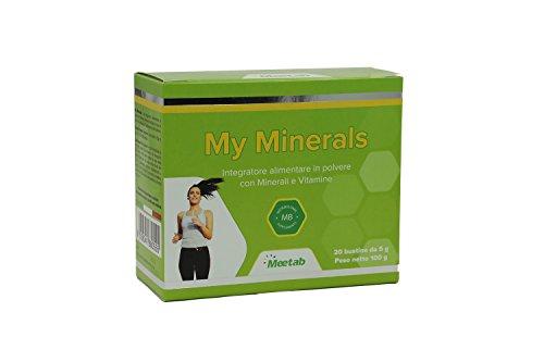 Meetab - My Minerals Bustine - Integratori di 92 Sali Minerali che reintegra in modo completo l'organismo