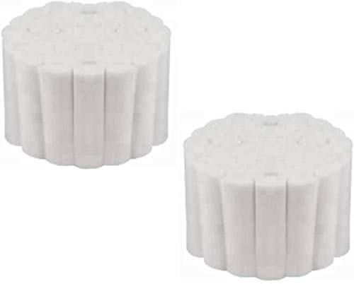 O'lemon 100 Count Cotton Rolls #2 Medium 1.5' Dental Gauze Cotton Rolls Non-Sterile 100% Natural Cotton High Absorbent Cotton