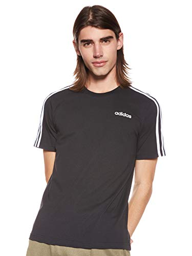 adidas E 3S Tee T-Shirt Homme, Noir/Blanc, FR : S (Taille Fabricant : S)