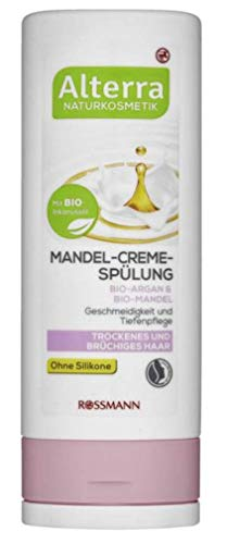 Mandel-Creme-Spülung Bio-Argan & Bio-Mandel - Naturkosmetik - Ohne Silikone - Geschmeidigkeit und Tiefenpflege