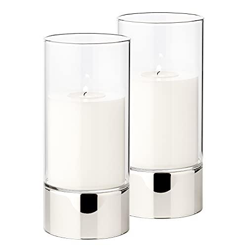 Edzard ED7011 para velas candelabro de constanze de colour plateado altura de 7 cm
