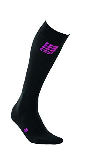 CEP Damen Strumpf Pro Plus Riding Socks Women, Black/Pink, III