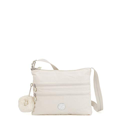 Kipling Damen ALVAR Umhängetasche, Weiß (Dazz White), 33x26x4.5 cm